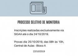 Processo Seletivo de Monitoria